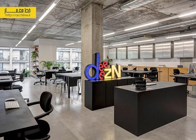 طراحی داخلی دفتر استودیو | طراحی دکوراسیون اداری,دکوراسیون داخلی اداری,نورپردازی اداری
