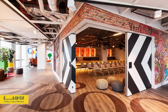 طراحی دفتر کار شرکت گوگل، آمستردام | طراحی دکوراسیون اداری,دکوراسیون اداری,نورپردازی