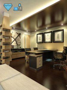 طراحی دکوراسیون اتاق رئیس