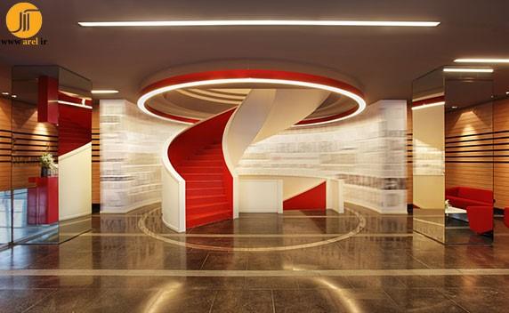 طراحی دفتر شرکت معماری | طراحی دکوراسیون اداری,دکوراسیون داخلی اداری,نورپردازی اداری