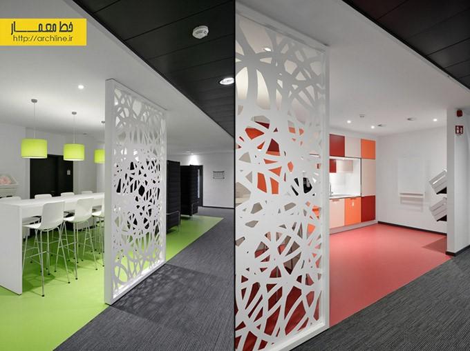 نمونه طراحی یک شرکت آلمانی | طراحی دکوراسیون اداری,دکوراسیون داخلی اداری,نورپردازی