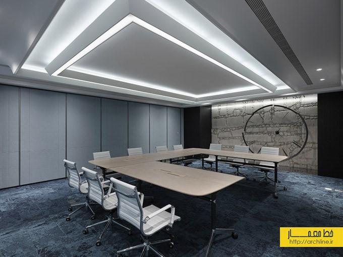 طراحی دفتر کار به سبک مدرن و صنعتی | طراحی دکوراسیون اداری,دکوراسیون داخلی اداری,دکور