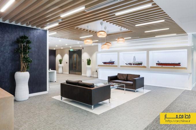 طراحی داخلی دفتر کار به سبک مدرن|طراحی دکوراسیون اداری,دکوراسیون داخلی اداری,نورپردازی