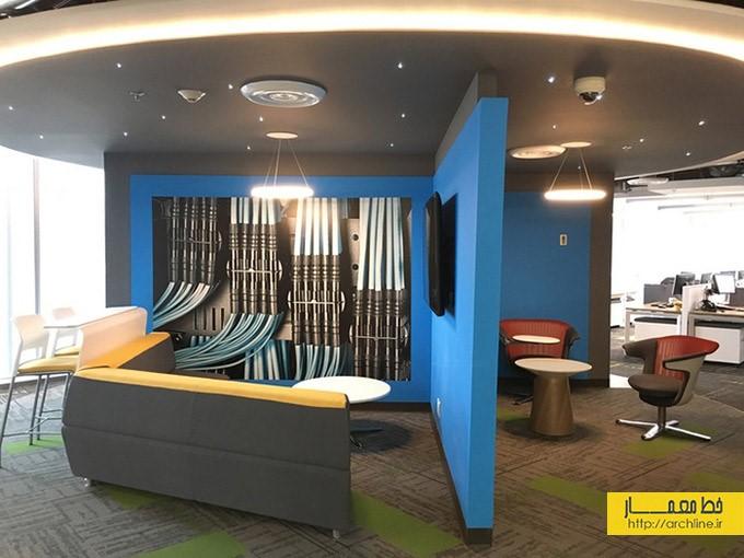 طراحی داخلی دفتر کاری برای دیتا سنتر | طراحی دکوراسیون اداری,دکوراسیون داخلی اداری,دکور