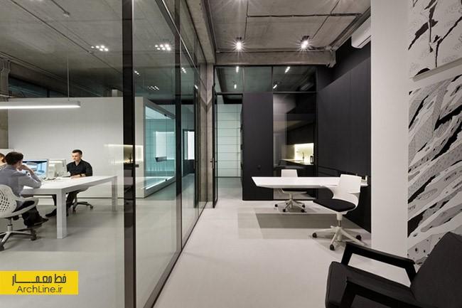 طراحی دفتر صنعتی و مدرن | طراحی دکوراسیون اداری,دکوراسیون داخلی اداری,نورپردازی اداری