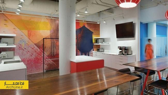 طراحی دفتر کار شرکت معماری | طراحی دکوراسیون اداری,دکوراسیون داخلی اداری,نورپردازی