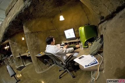 طراحی خلاقانه دفتر کار | طراحی دکوراسیون اداری,دکوراسیون داخلی اداری,نورپردازی اداری