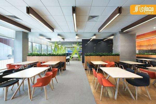 رنگ های پر انرژی دفتر کار | طراحی دکوراسیون اداری,دکوراسیون داخلی اداری,دکوراسیون اداری