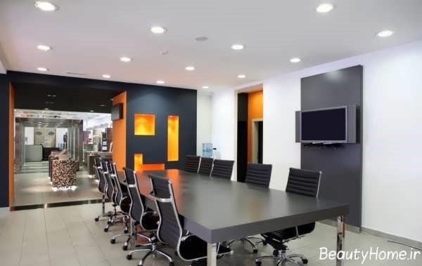 دکور داخلی محیط اداری | طراحی دکوراسیون اداری,دکوراسیون داخلی اداری,نورپردازی اداری,دکور