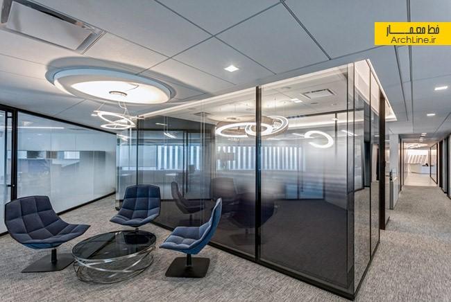 طراحی مدرن دفاتر اداری   طراحی دکوراسیون اداری,دکوراسیون داخلی اداری,نورپردازی اداری