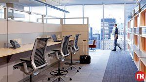 جذابیتها و محدودیتهای دفترکار پلان باز و راهکاری به نام پارتیشن اداری