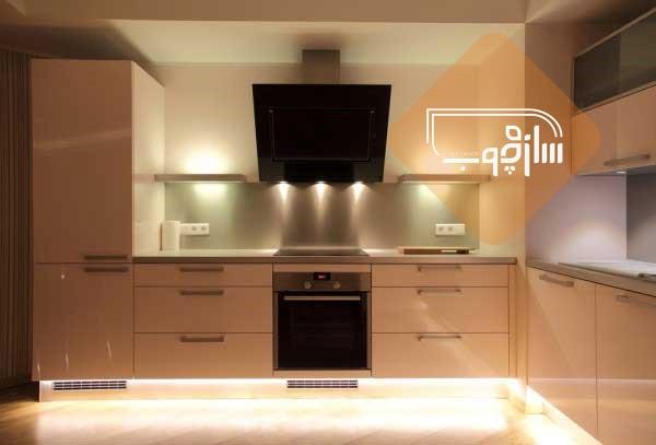 نورپردازی آشپزخانه شیک | طراحی دکوراسیون منزل,دکوراسیون داخلی منزل,دکوراسیون منزل