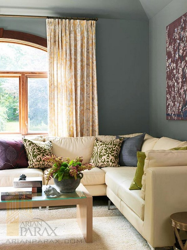 رنگ خاکستری در دکوراسیون پذیرایی |طراحی دکوراسیون منزل,دکوراسیون داخلی منزل,دکور منزل