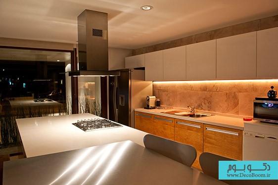 نورپردازی خلاقانه آشپزخانه | طراحی دکوراسیون منزل,دکوراسیون داخلی منزل,دکوراسیون منزل