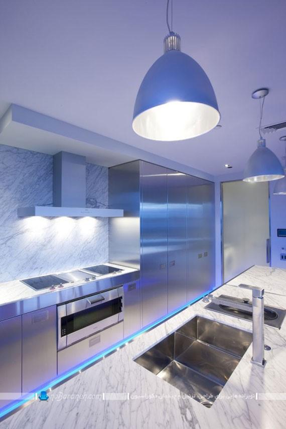 نورپردازی مدرن کابینت | طراحی دکوراسیون منزل,دکوراسیون داخلی منزل,دکوراسیون منزل