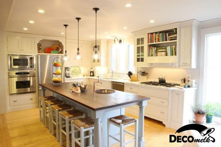 نورپردازی جذاب آشپزخانه | طراحی دکوراسیون منزل,دکوراسیون داخلی آشپزخانه,دکوراسیون