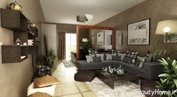 پذیرایی منازل مدرن | طراحی دکوراسیون منزل,دکوراسیون داخلی منزل,دکور منزل,نورپردازی منزل