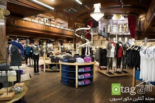 نحوه چینش دکوراسیون مغازه پوشاک   طراحی دکوراسیون مغازه,دکوراسیون داخلی مغازه,ویترین