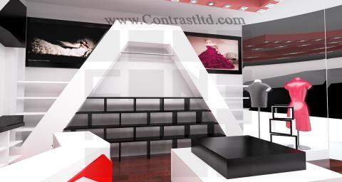 طراحی دکوراسیون فروشگاه پوشاک   طراحی دکوراسیون مغازه,دکوراسیون داخلی مغازه,دکور مغازه