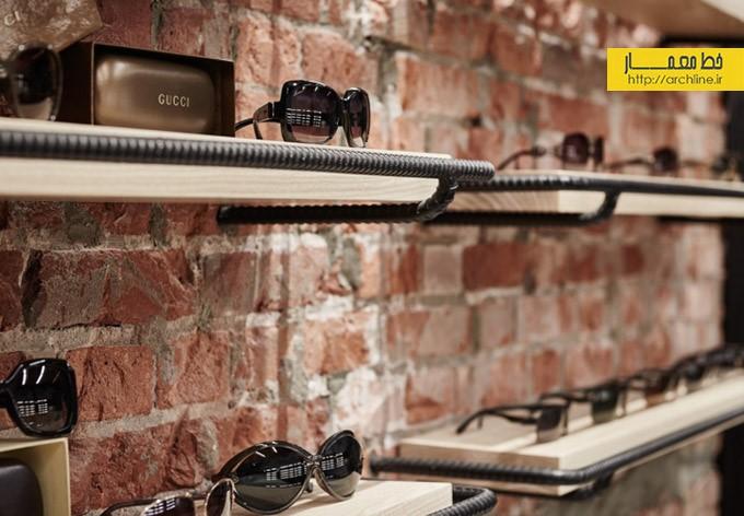 دکور لاکچری فروشگاه عینک و ساعت | طراحی دکوراسیون مغازه,دکوراسیئن داخلی مغازه,ویترین