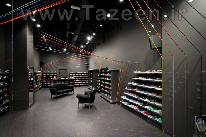 طراحی و دکوراسیون داخلی مغازه کفش فروشی