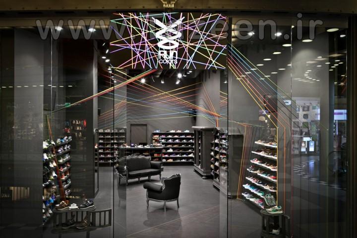 دکوراسیون داخلی مغازه کفش فروشی | طراحی دکوراسیون مغازه,دکوراسیون داخلی مغازه,ویترین