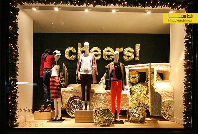 ایده خیره کننده برای ویترین مغازه در کریسمس