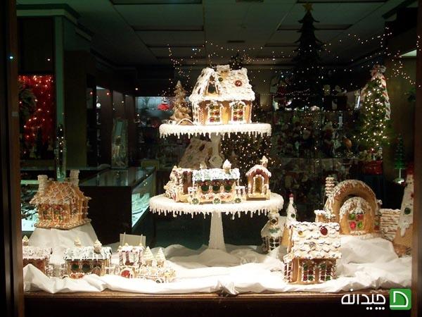 ایده خیره کننده ویترین مغازه در کریسمس   طراحی دکوراسیون مغازه,دکوراسیون داخلی مغازه,دکور