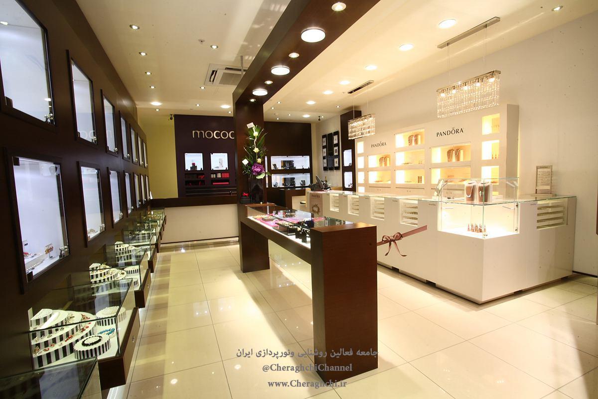 نکاتی در مورد نورپردازی فروشگاهی و ویترین | طراحی دکوراسیون مغازه,دکوراسیون داخلی مغازه