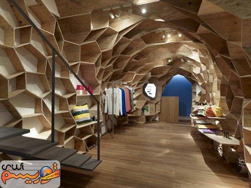 ایده طراحی دکوراسیون ویترین مغازه | طراحی دکوراسیون مغازه,دکوراسیون داخلی مغازه,نورپردازی