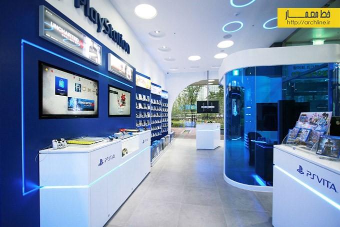 طراحی داخلی فروشگاه سونی | طراحی دکوراسیون مغازه,دکوراسیون داخلی مغازه,ویترین مغازه,دکور