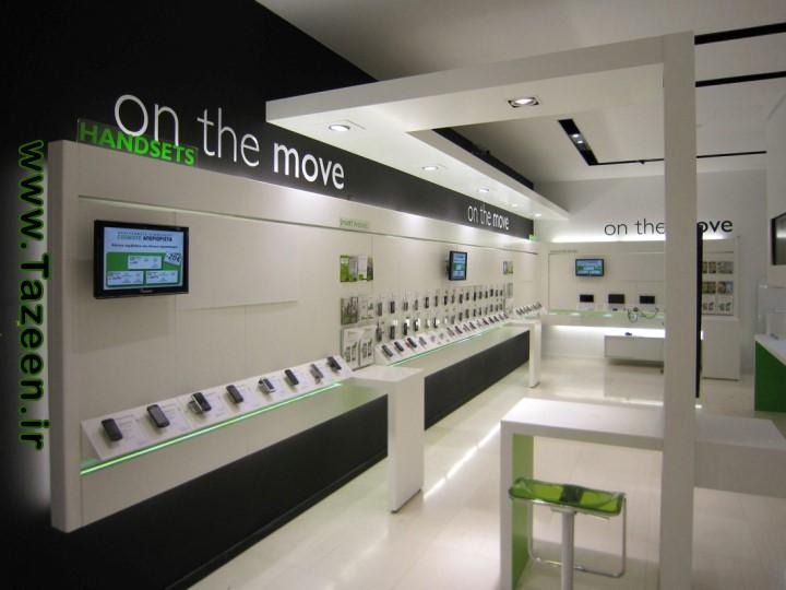 طراحی فروشگاه موبایل در یونان | طراحی دکوراسیون مغازه,.دکوراسیون داخلی مغازه,ویترین مغازه