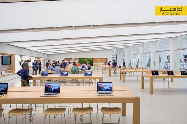 طراحی داخلی فروشگاه اپل استور | طراحی دکوراسیون مغازه,دکوراسیون داخلی مغازه,ویترین مغازه
