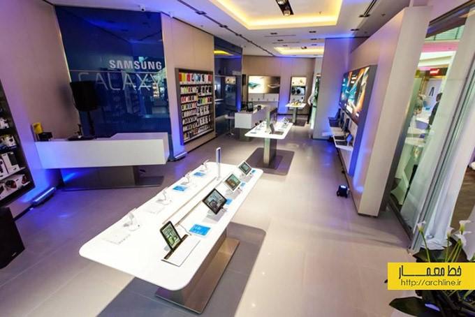 طراحی داخلی فروشگاه سامسونگ | طراحی دکوراسیون مغازه,دکوراسیون داخلی مغازه,وینرین مغازه