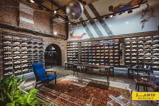 دکوراسیون داخلی فروشگاه Adidas | طراحی دکوراسیون مغازه,دکوراسیون داخلی مغازه,وینرین