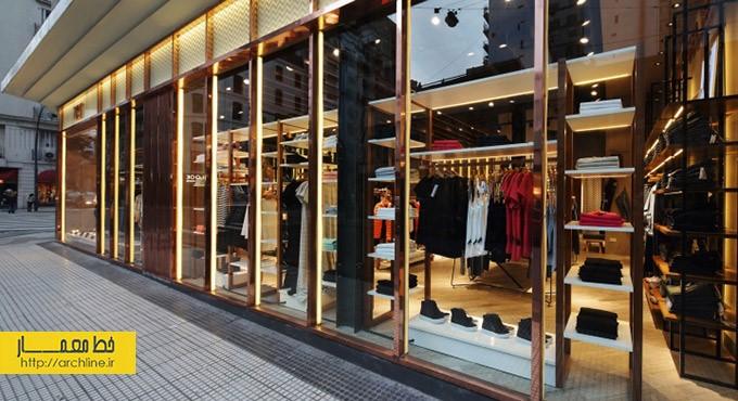 طراحی داخلی مغازه لباس فروشی | طراحی دکوراسیون مغازه,دکوراسیون داخلی مغازه,ویترین مغازه