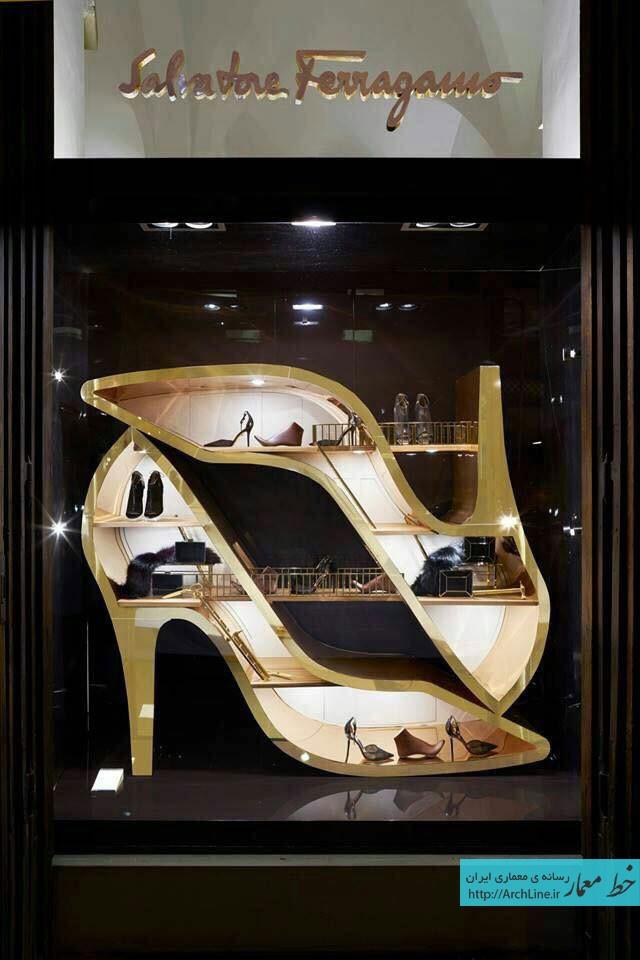 دکور مغازه های برندهای مشهور پوشاک | طراحی دکوراسیون مغازه,دکوراسیون داخلی مغازه,ویترین