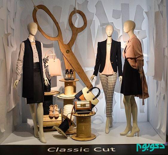 طراحی دکوراسیون فروشگاه پوشاک |طراحی دکوراسیون مغازه,دکوراسیون داخلی مغازه,ویترین مغازه