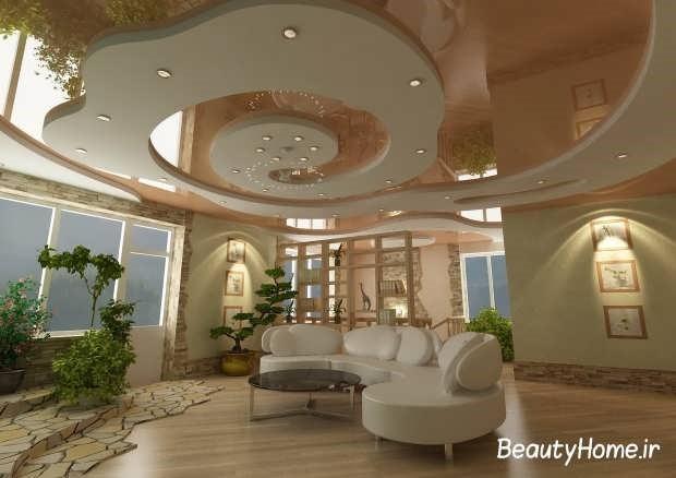 15 مدل سقف کاذب کناف جدید و مدرن | سقف کاذب | دیوار پوش | کف پوش | پارکت | کاغذ دیواری