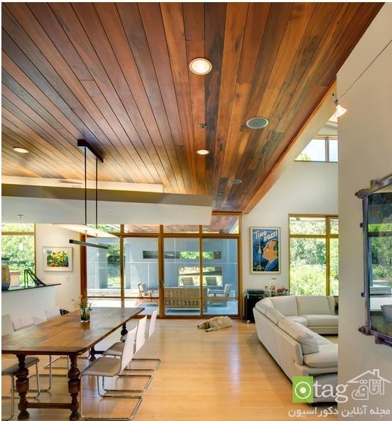 مدل های شیک و منحصر بفرد سقف کاذب چوبی |  سقف کاذب | دیوار پوش | کف پوش | سقف چوبی