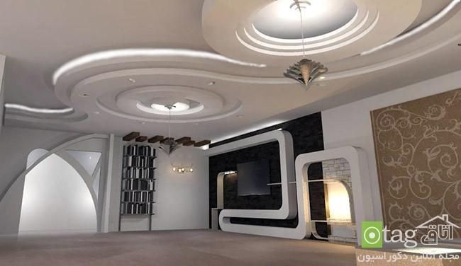 مدل های جدید سقف کناف در دکوراسیون منازل مسکونی و تجاری