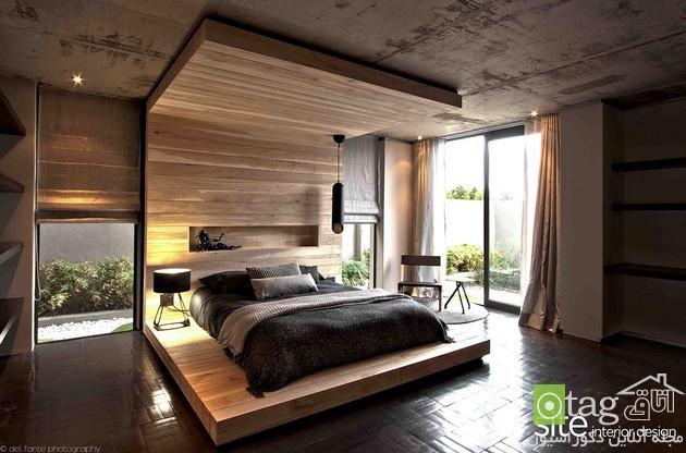 تزیین دکوراسیون داخلی اتاق خواب با چوب طبیعی | دیوار پوش | کف پوش | پارکت | کناف | لمینت