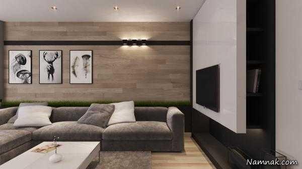 دیوارپوش های چوبی آپارتمانی لوکس | دیوار پوش | کف پوش | پارکت | کناف | سقف کاذب چوبی