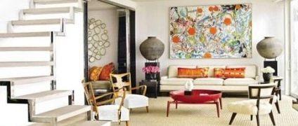 دکوراسیون به سبک مدرن یا معاصر   استفاده از رنگهای جسورانه در طراحی داخلی