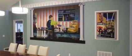 بهترین نقاشیهای دیواری   نقاشی دیواری اتاق خواب   نقاشی دیواری اتاق کار