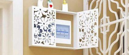 مخفی کردن کنتور برق در خانه |شلف و جعبه های چوبی در دکوراسیون منزل