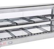 دستگاه دیسپلی مرغ | قیمت دیسپلی مرغ سوخاری | گرمخانه غذا رومیزی | تجهیزات فست فود