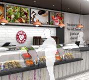 ایده های طراحی دکوراسیون فست فود و رستوران – طراحی داخلی رستوران – طراحی داخلی فست فود