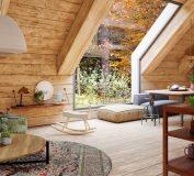 دکوراسیون رویایی کلبه چوبی مدرن در جنگل | دکوراسیون چوبی | دکوراسیون داخلی ویلا