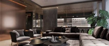 طراحی داخلی دو خانه لاکچری با استفاده از فلز مس و دکوراسیون پر زرق و برق   طراحی دکوراسیون منزل
